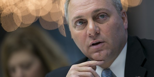 House Majority Whip Steve Scalise, a Republican from Louisiana, speaks during an interview in New York, U.S., on Wednesday, Oct. 8, 2014. Debt ceilings are hit because of spending problems in Washington and