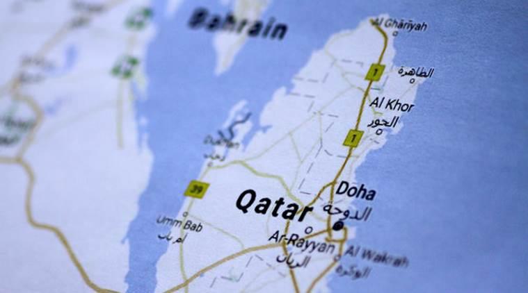 Illustration photo of a map of Qatar