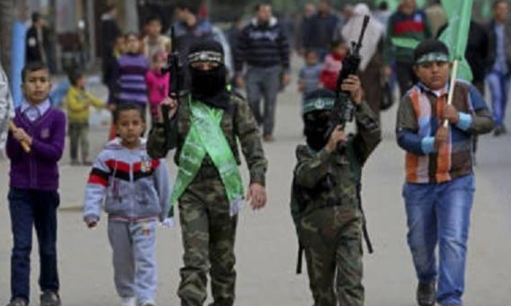 Palestinian Children Dressed as Terrorists