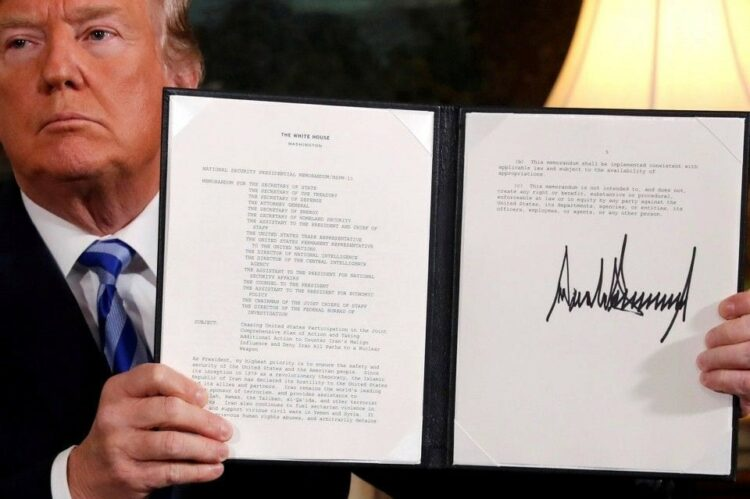 Trump's decision to blow up the Iran Deal.